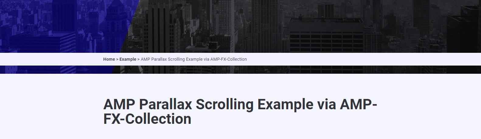 AMP-Parallax bug
