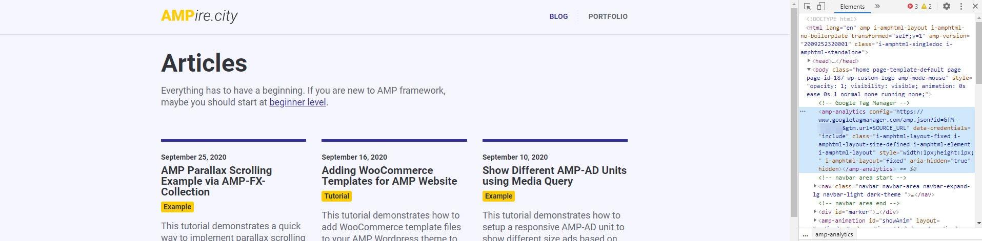 Testing Google Tag Manager on AMP Website via developer tools